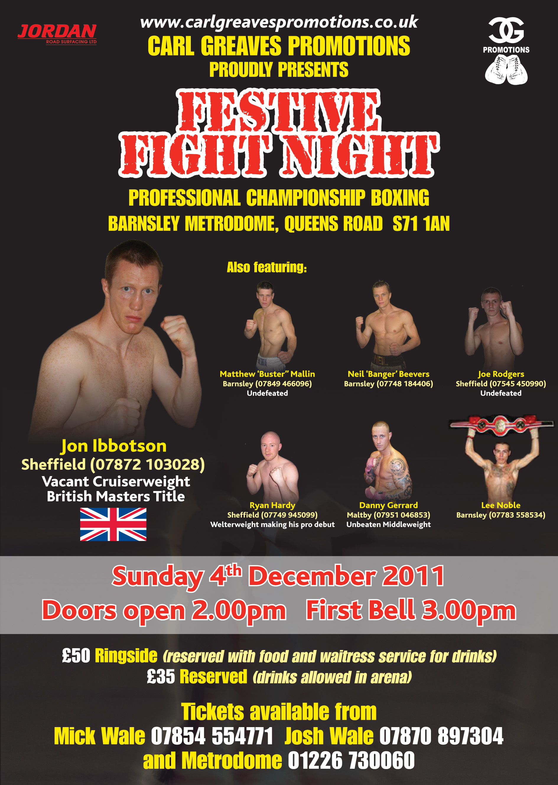 Ri Food Fights >> Carl Greaves Boxing Promotions - Up & Coming Events